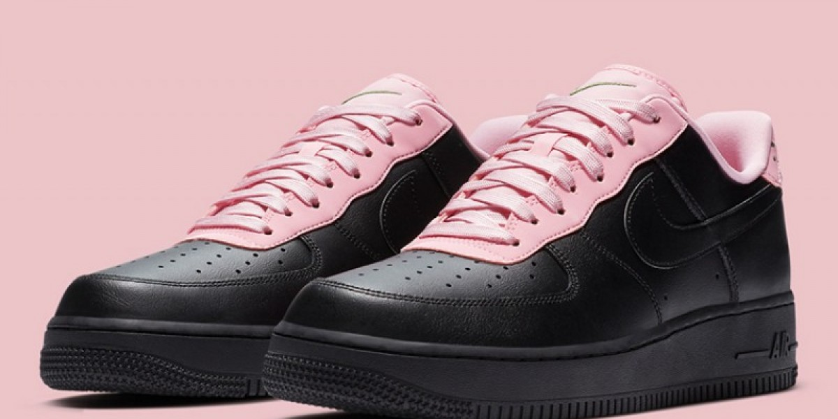 CJ1629-001 Nike Air Force 1 Low Black Pink Classic Sneaker